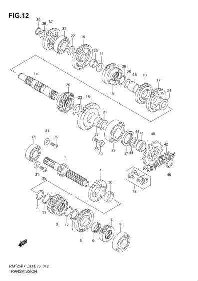 Motory > převodovka > DR 650 RM 125 AN 650 Burgman