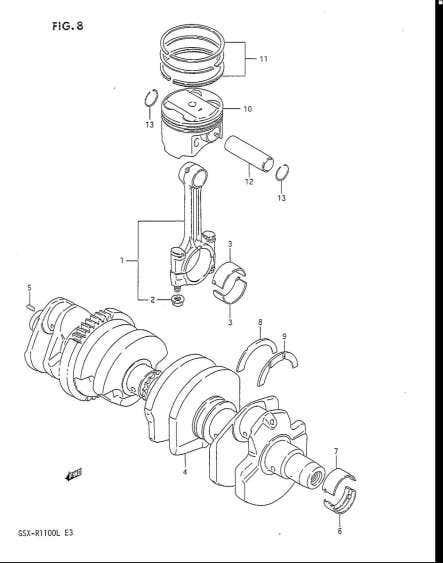 Motory > válec, ojnice, píst > GSX1300 GSF1200 SV650 DL650