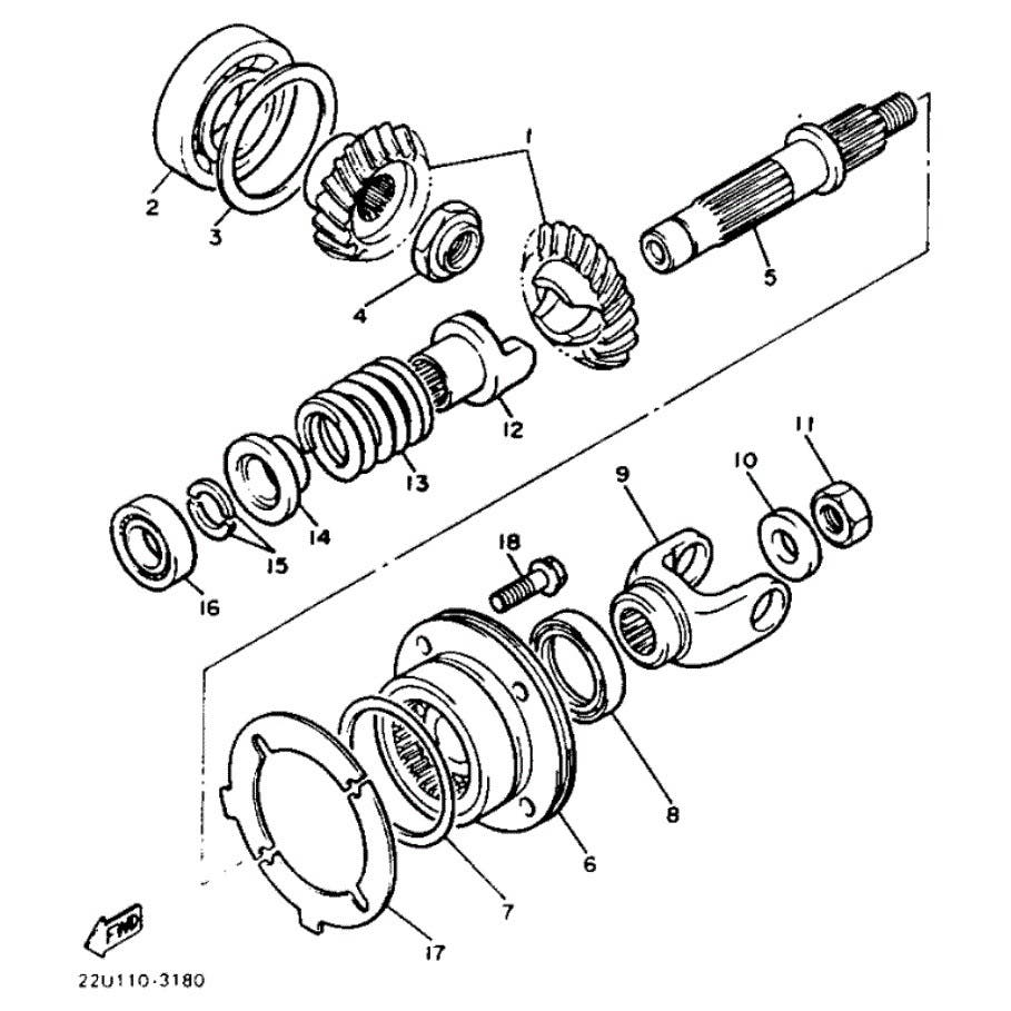 Motory > kliková hřídel > Ložisko hřídele Yamaha Virago