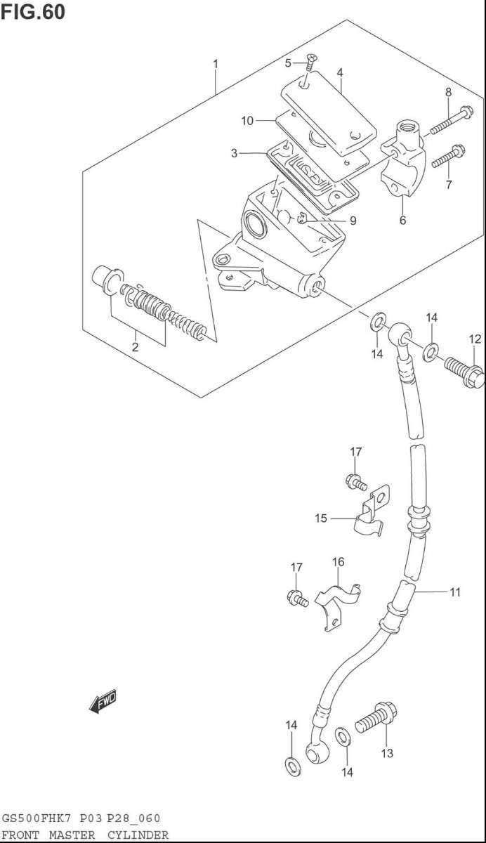 Brzdy > brzdová hadice > Suzuki GS 500 Držák přední